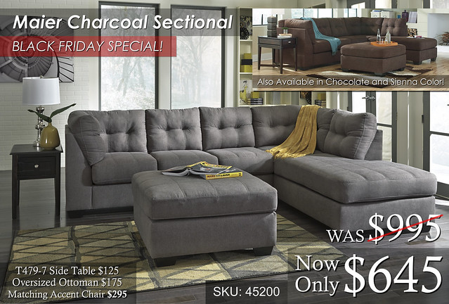 Maier Charcoal Sectional Multi Image BFS