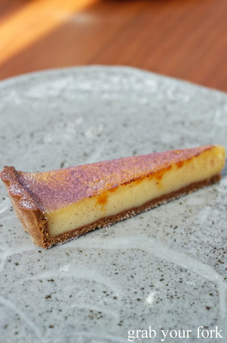 Yuzu tart at LuMi Dining in Pyrmont Sydney