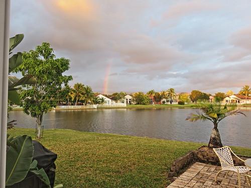 Rainbow from back patio 20161123