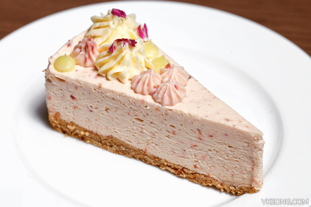 Gold Bar White Chocolate Strawberry Cheesecake