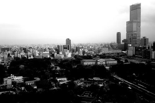 views from 'TSUTENKAKU' tower on DEC 01, 2016 (1)