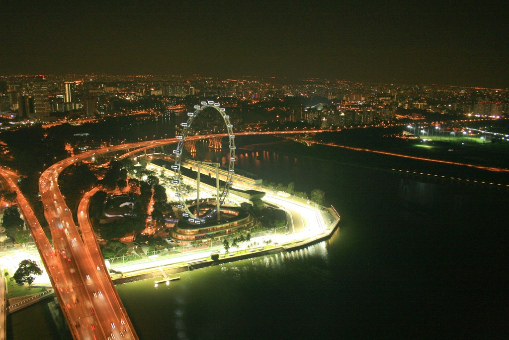 Singapore Flyers at Night