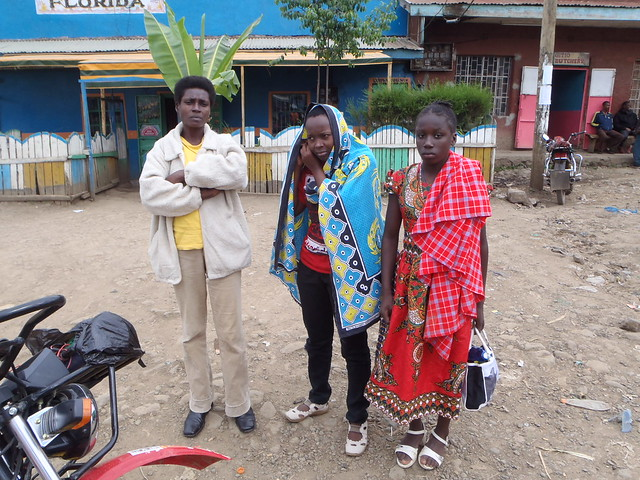 Mama Njeri, Winfred & Njeri at the nearby shopping centre