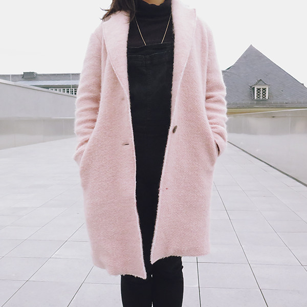 how to style pink coat