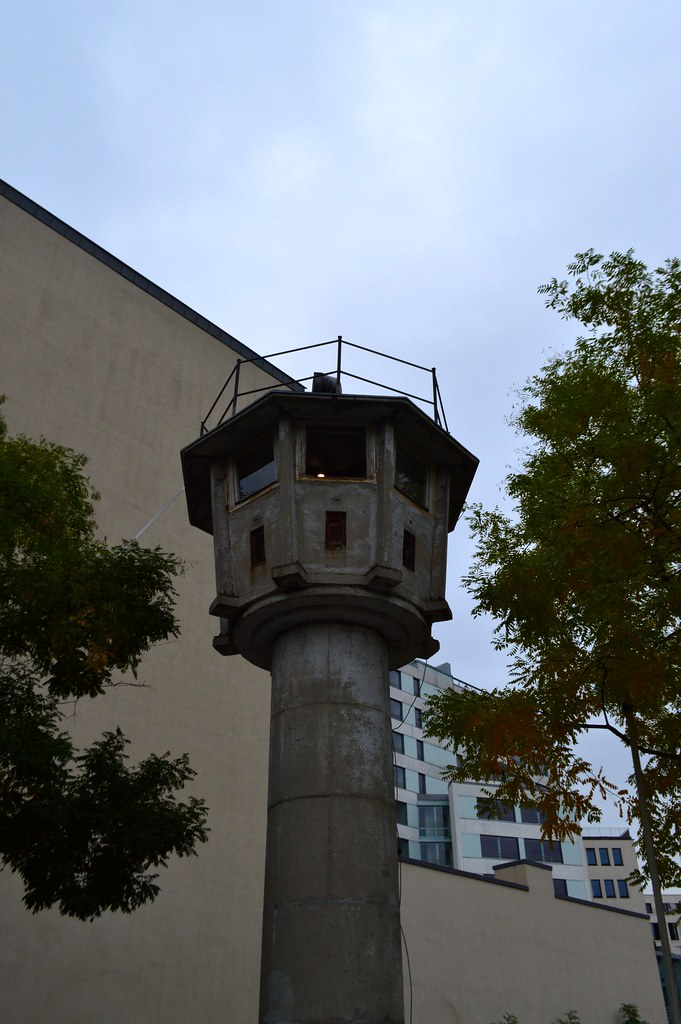 this is a picture of an east berlin watch tower