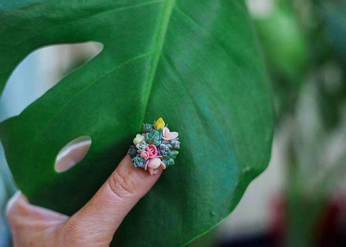 Экзотический маникюр из живых растений - ПоЗиТиФфЧиК - сайт позитивного настроения!