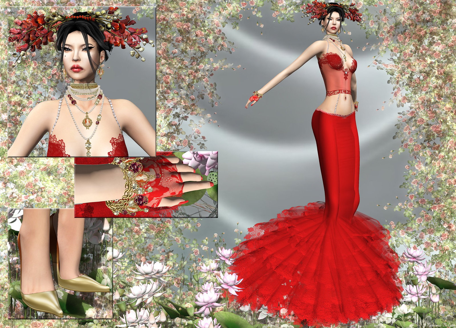 TIFFANY DESIGNS - Ava Gown with Applier