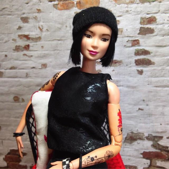 Max has a new hat. 😁. . #dollclothes #dollcrafts #dollstagram #instadoll #barbieclothes #barbie