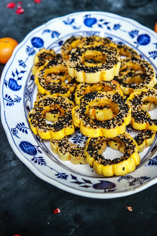 Roasted Sesame Delicata Squash from HeatherChristo.com