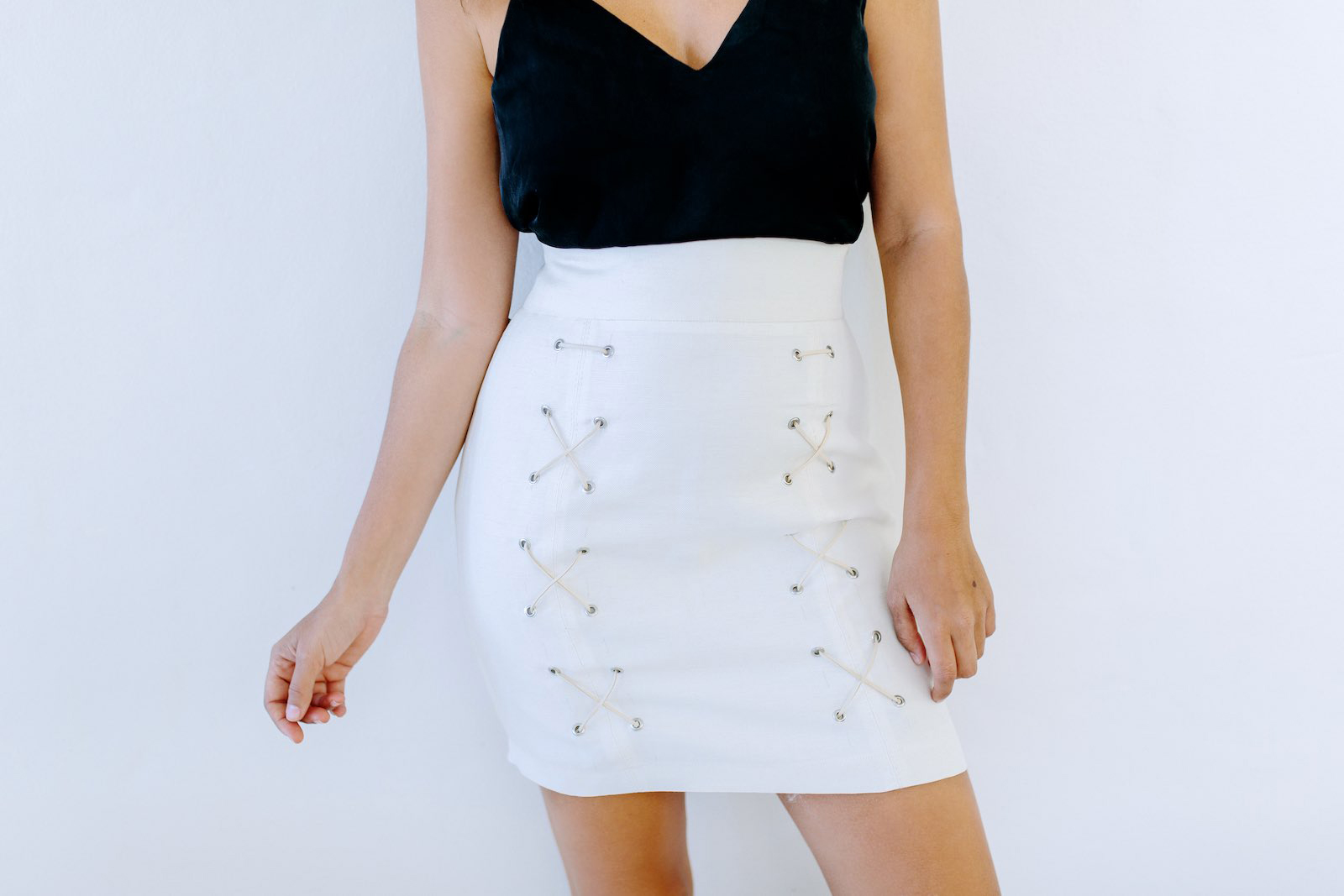 DIY Lace Up Skirt