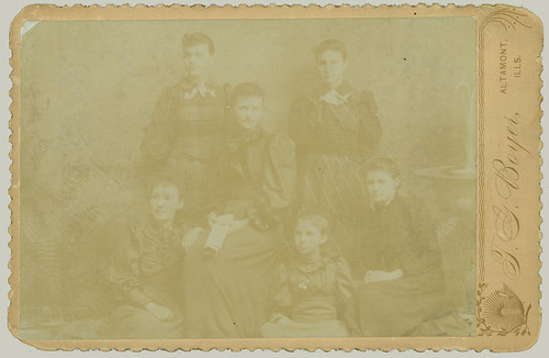 Cabinet Card six women
