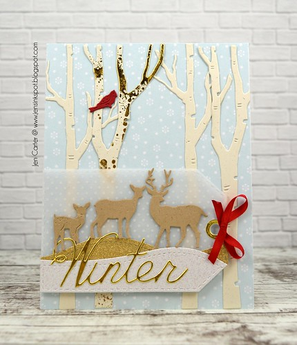 CIC383 Jen Carter Winter Birch Deer Tag Front