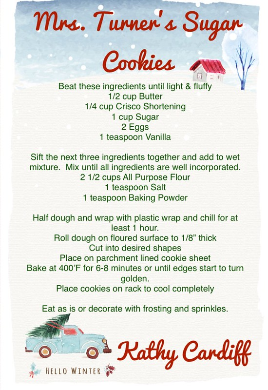 Sugar Cookie Recipe Card