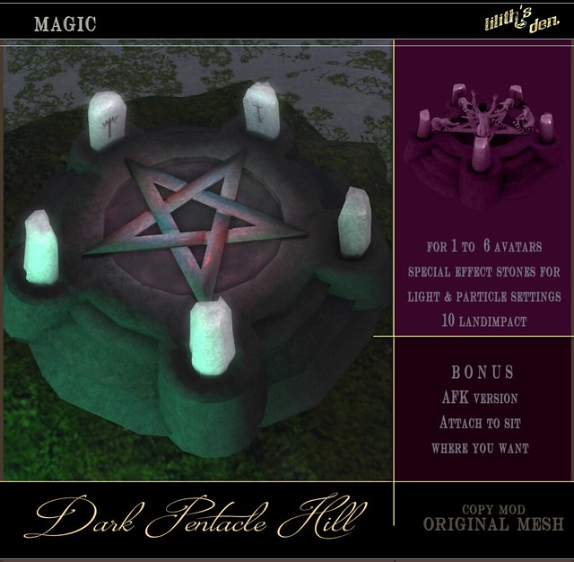 Liliths's Den Dark Pentacle Hill