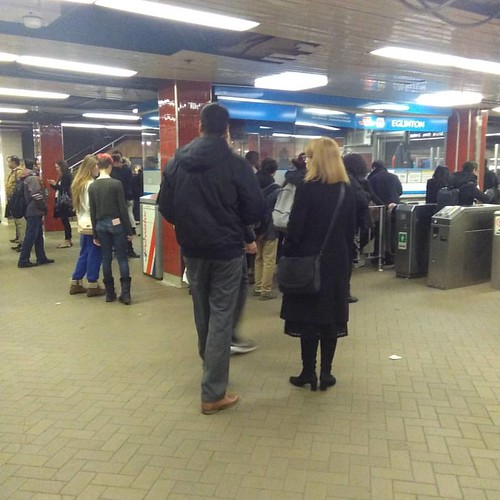 Last Metropass line, November 2016, Eglinton station #toronto #yongeandeglinton #eglinton #ttc #metropass #metrolinx #presto