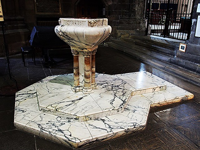 Font at Paisley Abbey, Scotland