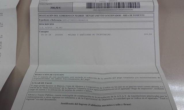Multa de 600 euros por parar desahucios