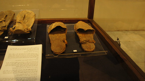 Ancient Egyptian leather open shoes