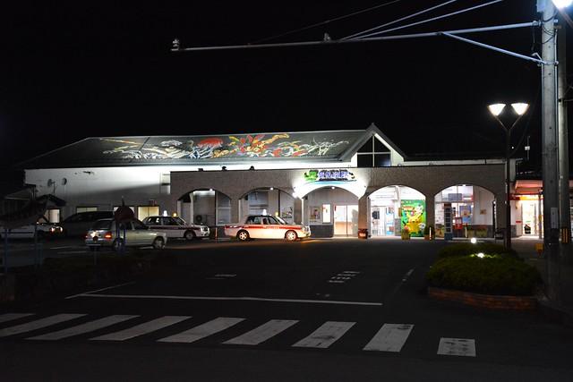 夜の気仙沼駅
