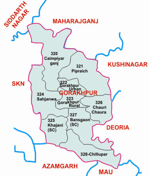 Gorakhpur district Uttar Pradesh Election 2017