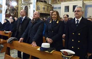 Da sinistra, Lavoscio, Vitto, e i comandanti Centrone e Di Capura (foto archivio)