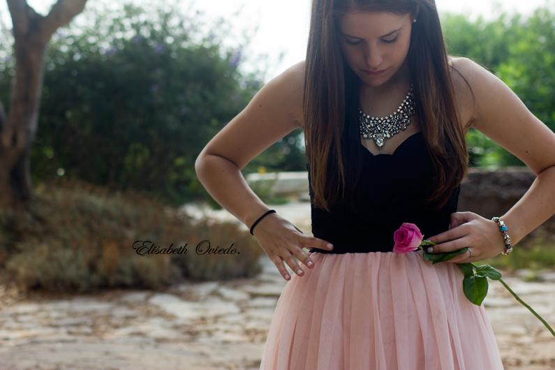 vestido VIPme tacones OASAP HEELSANDROSES Elisabeth Oviedo blog moda vestido palabra de honor falda de vuelo rosa (16)