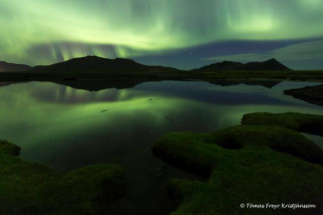 Aurora over Kolgrafafjordur