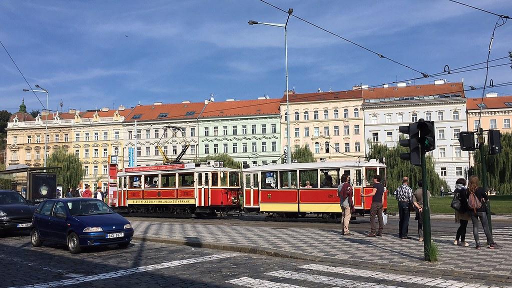 Old-school tram