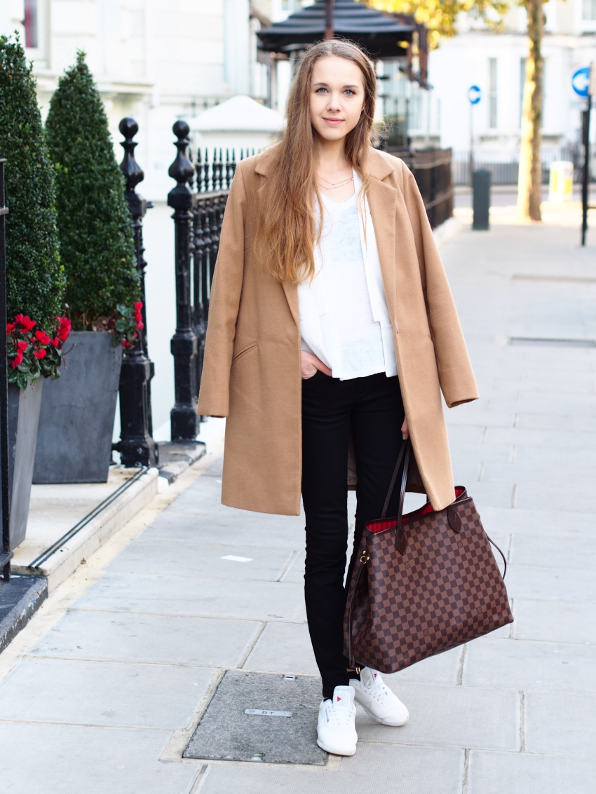 london dinner outfit with basics