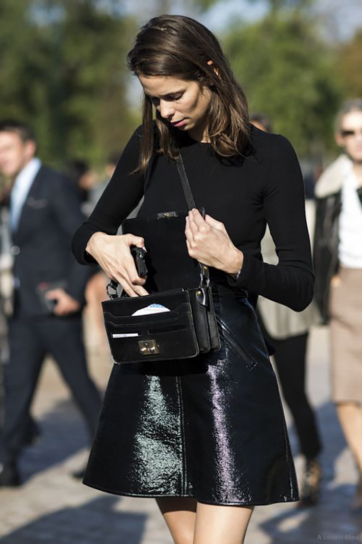 patent leather street style fashion outfit style6
