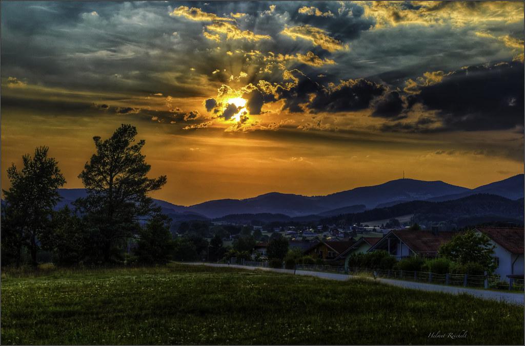 Abendhimmel überm Bayerischen Wald
