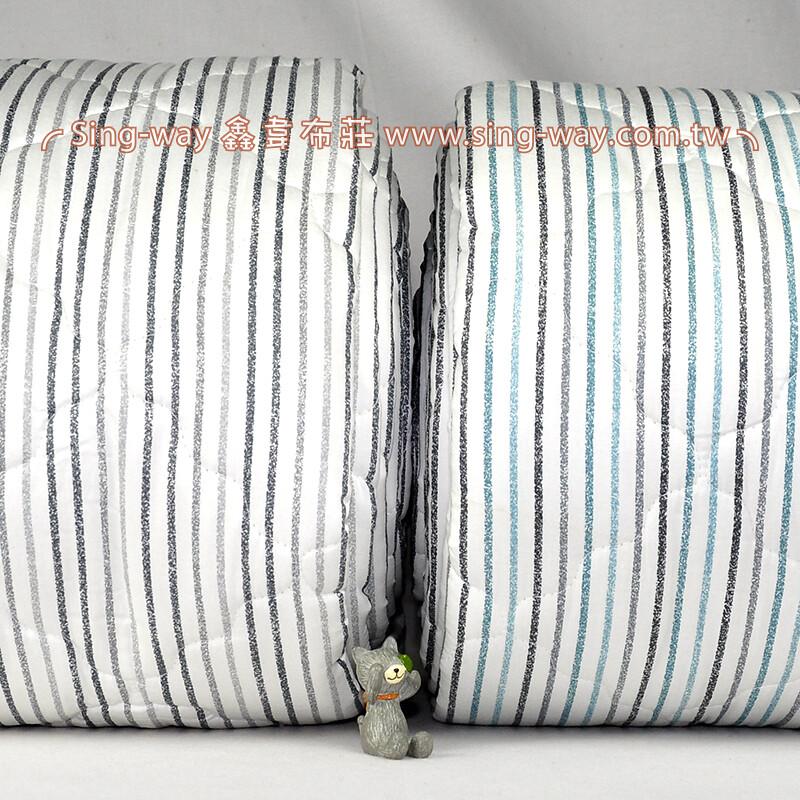 【限宅配】白底蠟筆直條 手繪條紋 精梳棉鋪棉床品床單布料 B990080