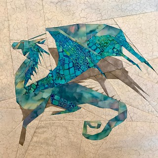 Fantastic Beast QAL     Week 5 - Antipodean OpalEye Dragon #fandominstiches #fbqal