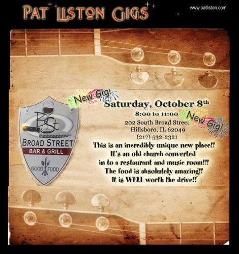 Pat Liston 10-8-16