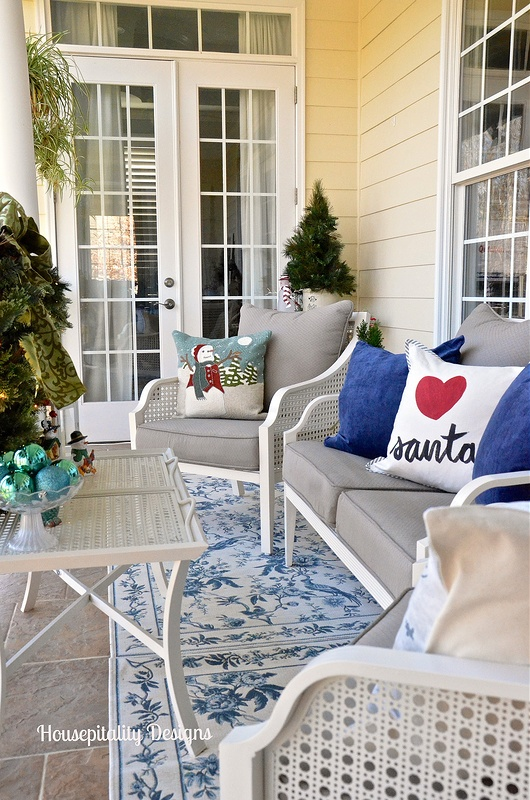 Christmas Upper Porch 2015 - Snowman Theme - Housepitality Designs