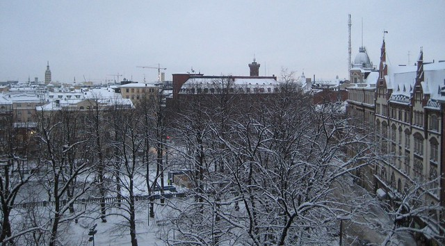Helsinki in winter panorama
