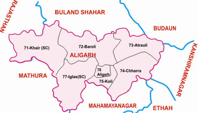 Aligarh district Uttar Pradesh Election 2017