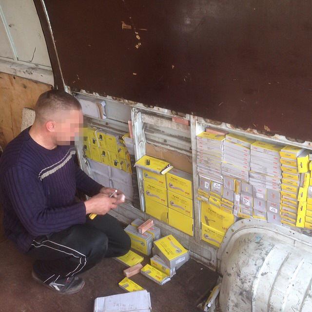 СБУ вилучила нелегальні товари на шістсот тисяч гривень у районі проведення АТО