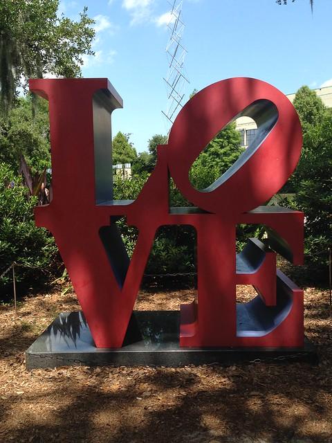 Robert Indiana, Love, Red Blue, Sydney and Walda Besthoff Sculpture Garden, NOMA, New Orleans
