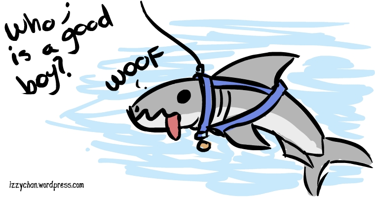 shark dog collar good boy