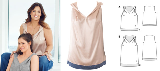 Burda 2-layer tanktop