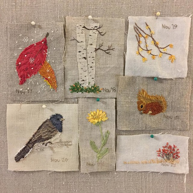 Week 1 of Daily Stitching.