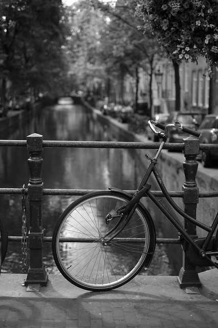 Bike at canal in Amsterdam 39