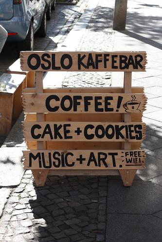 Berlin Oslo KaffeeBar Berlin Sign