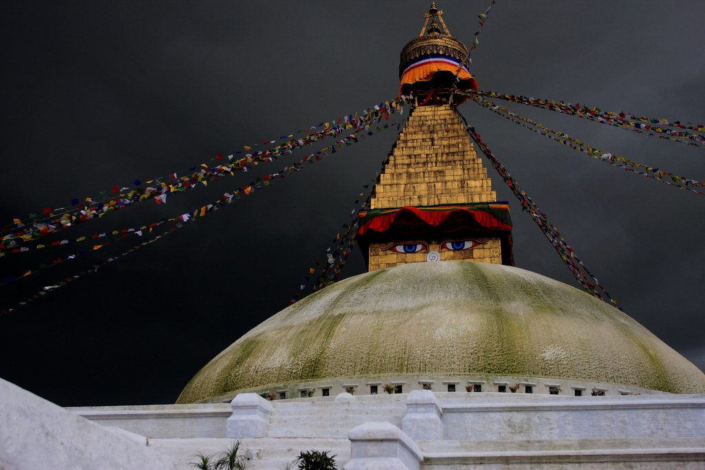 The Bodhnath As Storm Clouds Gather