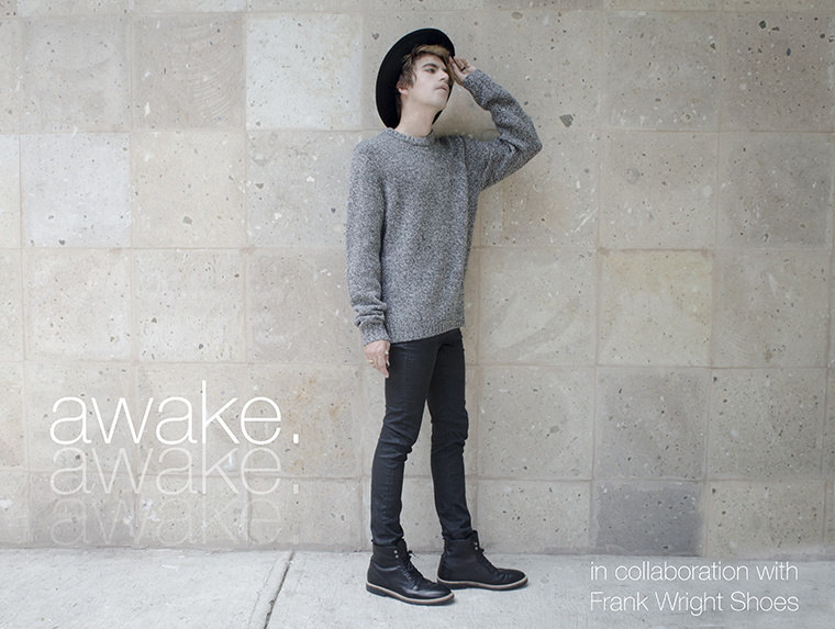 Awake in collaboration with Frank Wright shoes