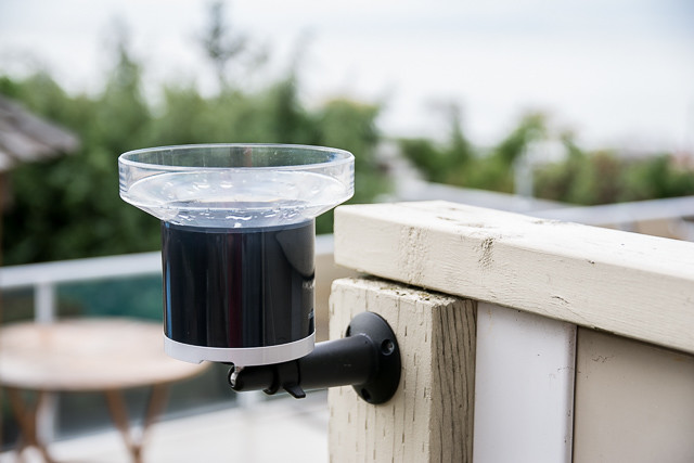 Netatmo Rain Gauge Mounted