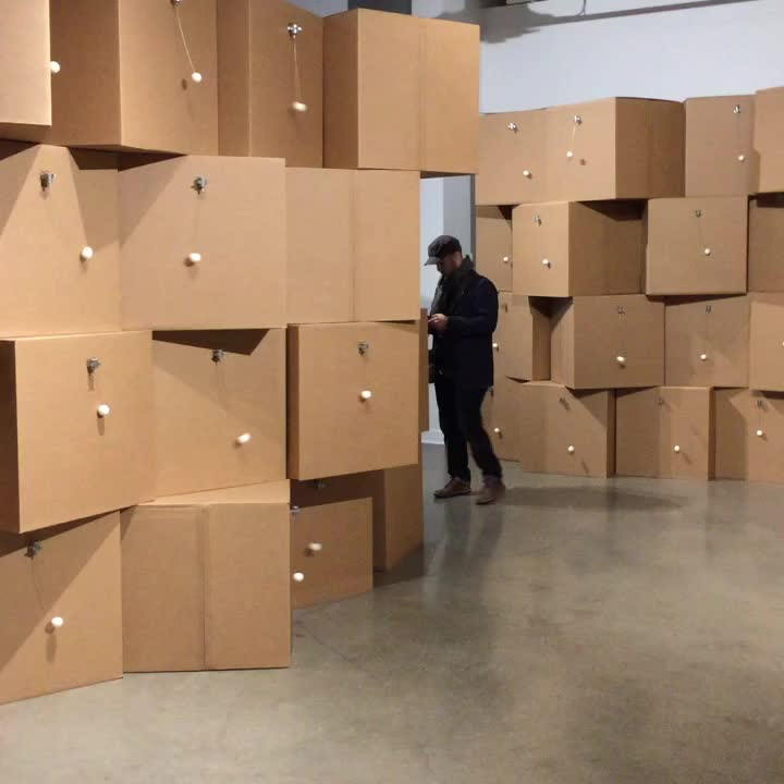 art installation at Contemporary Calgary