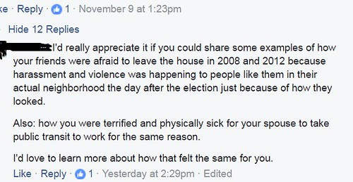 facebook from peter on fear after election