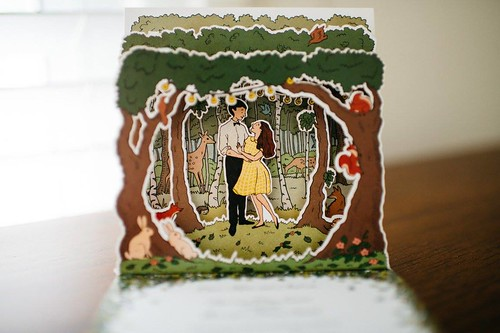 Woodland Wedding constructed